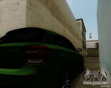 BMW M135i V1.0 2013 pour GTA San Andreas vue intérieure