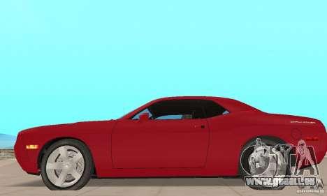 Dodge Challenger 2007 pour GTA San Andreas sur la vue arrière gauche