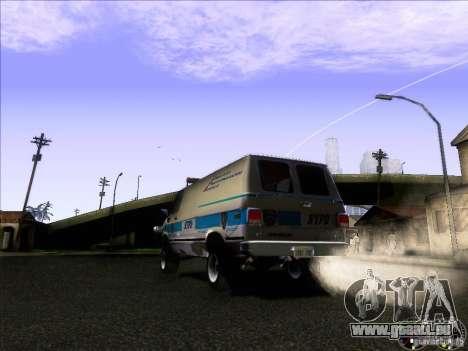 Chevrolet VAN G20 NYPD SWAT für GTA San Andreas rechten Ansicht