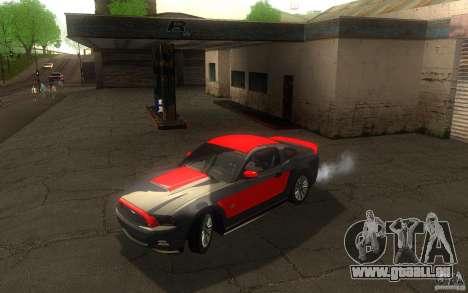 Ford Mustang GT V6 2011 pour GTA San Andreas vue de dessus