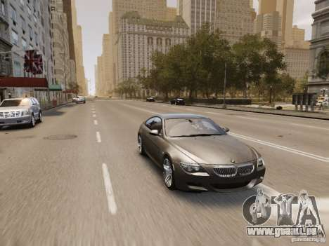 BMW M6 2010 für GTA 4 Innen