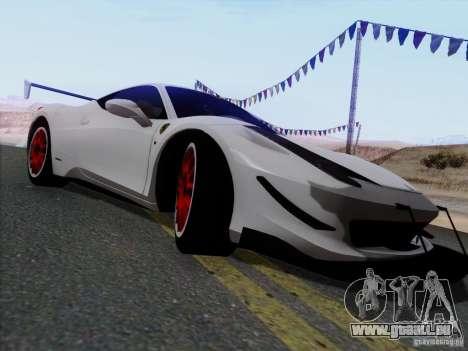 Ferrari 458 Italia Tuned pour GTA San Andreas laissé vue