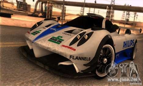 Pagani Zonda R pour GTA San Andreas vue de dessous