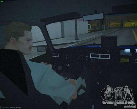 VAZ 2107 Polizei für GTA San Andreas obere Ansicht