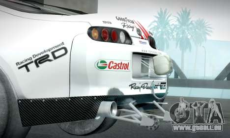 Toyota Supra JZA80 RZ Dragster pour GTA San Andreas vue de droite