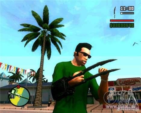 Les griffes d'un prédateur pour GTA San Andreas