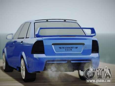 VAZ-2170 pour GTA San Andreas vue arrière