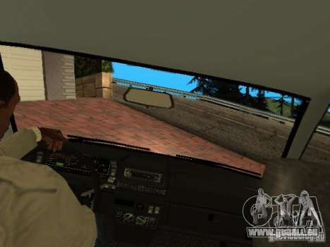 VAZ 2108 Gangsta Edition pour GTA San Andreas vue intérieure
