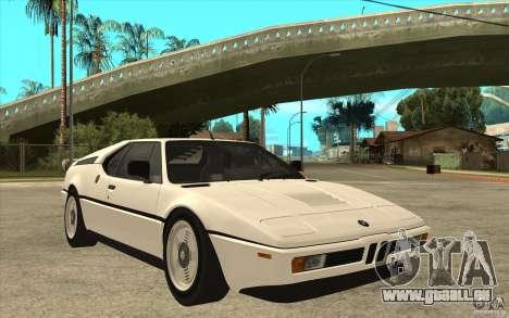 BMW M1 1981 pour GTA San Andreas vue arrière