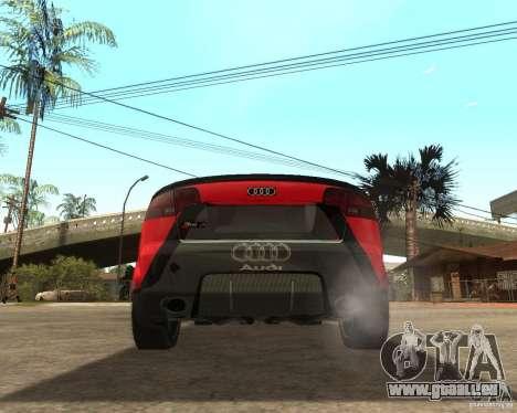 Audi RS4 Grip pour GTA San Andreas sur la vue arrière gauche