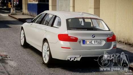 BMW M5 F11 Touring pour GTA 4 Vue arrière de la gauche