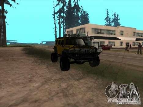 Hummer H3 Trial pour GTA San Andreas vue arrière