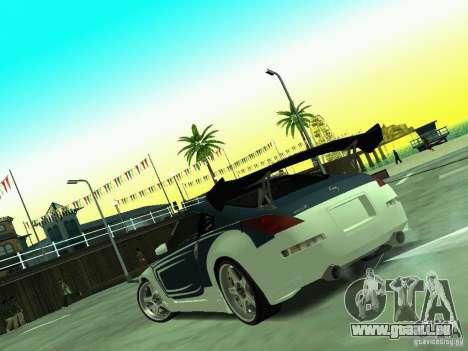 Nissan 350z Tea Hair pour GTA San Andreas vue arrière