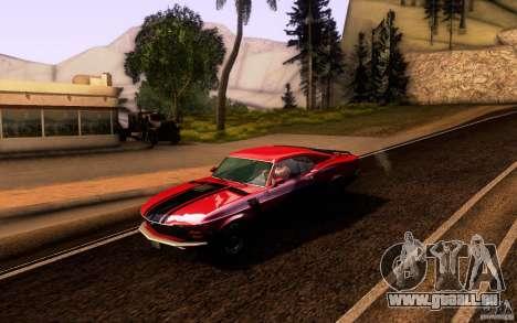 Ford Mustang Boss 302 für GTA San Andreas Unteransicht