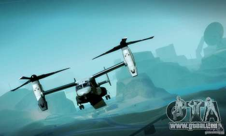 MV-22 Osprey für GTA San Andreas obere Ansicht