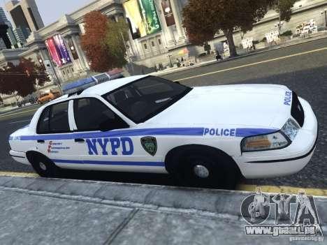 Ford Crown Victoria NYPD 2012 pour GTA 4 est une gauche