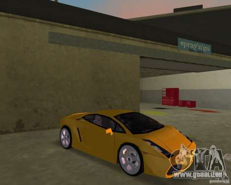 Lamborghini Gallardo v.2 pour GTA Vice City vue arrière