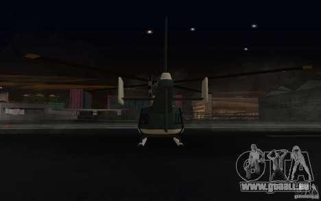 GTA IV Police Maverick pour GTA San Andreas vue arrière