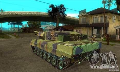 Leopard 2 A6 für GTA San Andreas zurück linke Ansicht