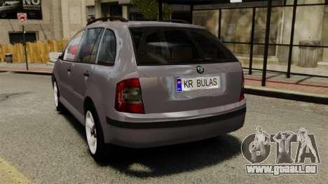 Skoda Fabia Combi für GTA 4 hinten links Ansicht