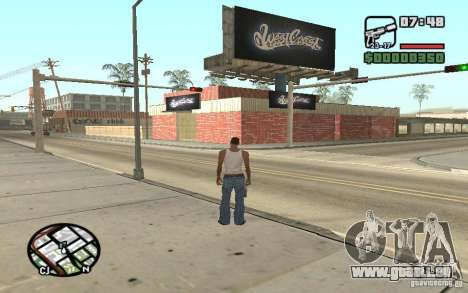 Ein Paint Shop West Coast Customs für GTA San Andreas