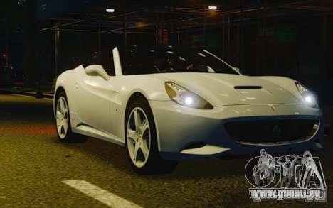 Ferrari California pour GTA 4 est une vue de l'intérieur