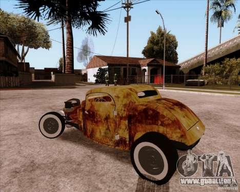 Ford Rat Rod pour GTA San Andreas vue arrière