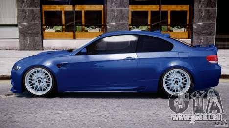 BMW M3 Hamann E92 pour GTA 4 Vue arrière de la gauche
