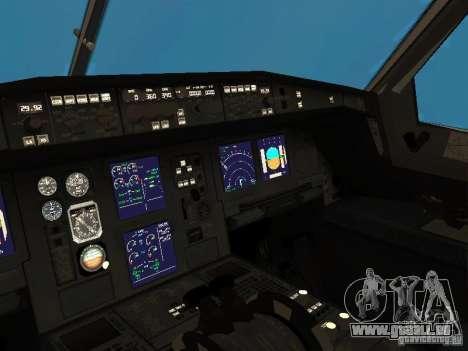 Airbus A340-300 Qantas Airlines pour GTA San Andreas vue intérieure