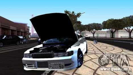 Toyota Chaser Tourer V für GTA San Andreas zurück linke Ansicht
