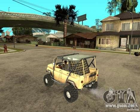 UAZ 469 pour GTA San Andreas laissé vue