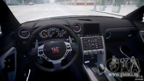 Nissan GTR R35 SpecV v1.0 pour GTA 4 est une vue de l'intérieur