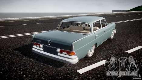 Mercedes-Benz W111 v1.0 pour GTA 4 vue de dessus