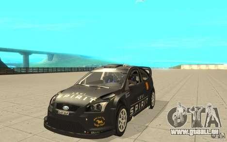 2 Werke für den Ford Focus RS WRC 08 für GTA San Andreas rechten Ansicht