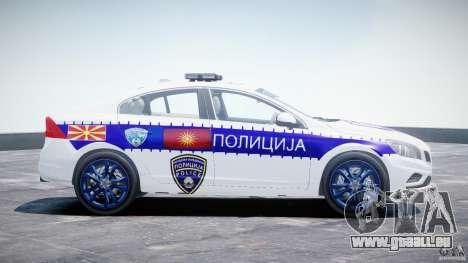 Volvo S60 Macedonian Police [ELS] pour GTA 4 est une vue de l'intérieur