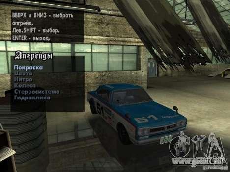 Nissan Skyline 2000 GT-R pour GTA San Andreas vue de côté