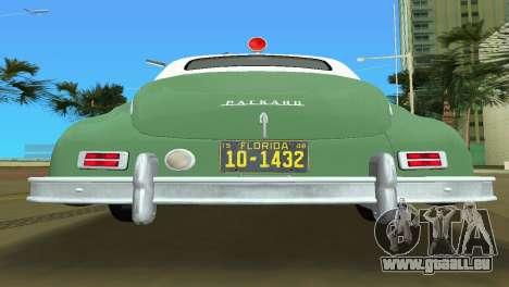 Packard Standard Eight Touring Sedan Police 1948 pour une vue GTA Vice City de l'intérieur