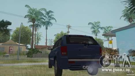Jeep Grand Cherokee SRT8 2009 pour GTA San Andreas laissé vue