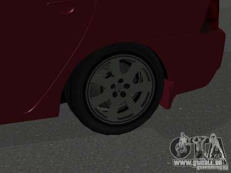 Toyota Corolla Sedan für GTA San Andreas Rückansicht