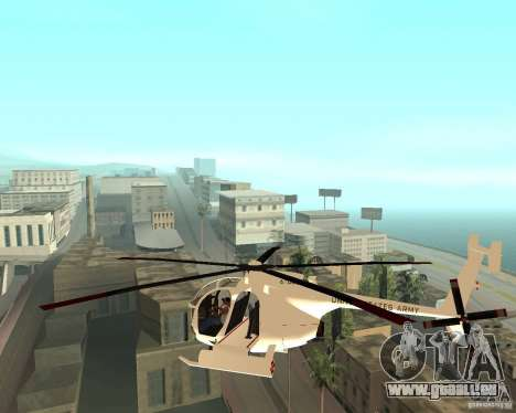 AH-6C Little Bird für GTA San Andreas linke Ansicht