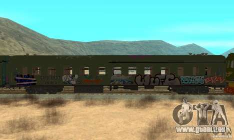 Custom Graffiti Train 2 für GTA San Andreas zurück linke Ansicht