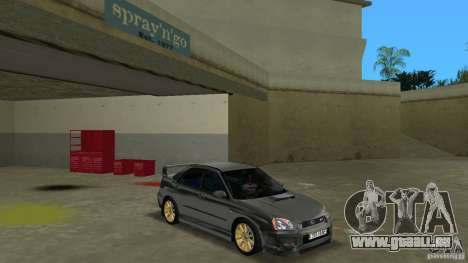 Subaru Impreza WRX STi für GTA Vice City Rückansicht