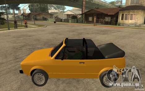 Volkswagen Golf MK1 Cabrio pour GTA San Andreas laissé vue