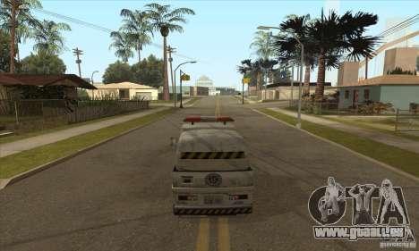 Balayeur de rue de travail pour GTA San Andreas troisième écran