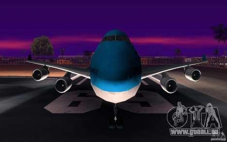 Boeing-747 Corsair Fly für GTA San Andreas obere Ansicht