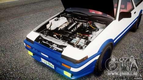 Toyota Trueno AE86 Initial D pour GTA 4 est une vue de l'intérieur
