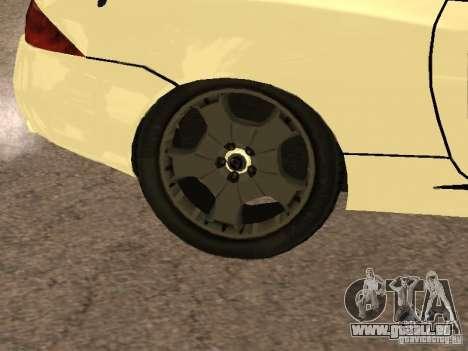 Jaguar XK pour GTA San Andreas vue intérieure