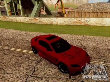 Mazda RX8 Reventon für GTA San Andreas Rückansicht