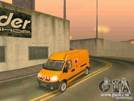 Renault Master pour GTA San Andreas vue intérieure