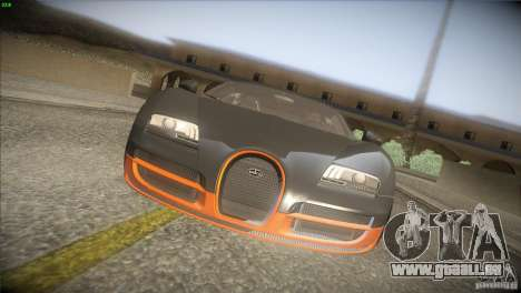 Bugatti Veyron Super Sport für GTA San Andreas Unteransicht